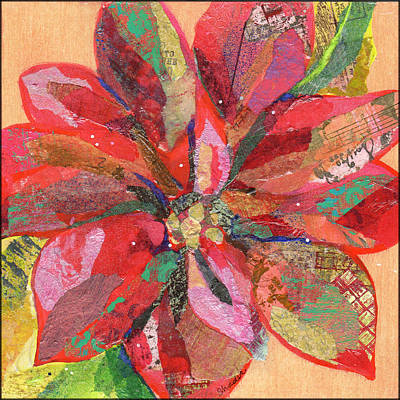 Starchips Poststamps - Poinsettia 1 by Shadia Derbyshire