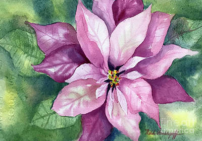 Painting - Poinsettia by Hilda Vandergriff