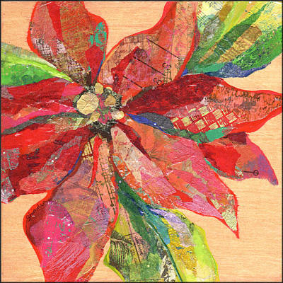 Spanish Adobe Style - Poinsettia II by Shadia Derbyshire