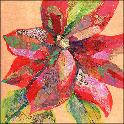 Spanish Adobe Style - Poinsettia III by Shadia Derbyshire