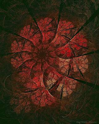 Digital Art - Poinsettia Vortex  by Doug Morgan