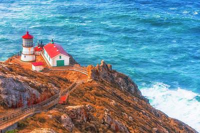 Point Reyes Lighthouse Art Print by Fernando Margolles