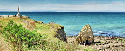 Photograph - Pointe Du Hoc Against The Sea by Weston Westmoreland