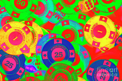 Royalty-Free and Rights-Managed Images - Poker stacks by Jorgo Photography