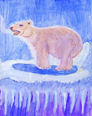 Painting - Polar Bear by Dobrotsvet Art