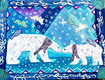 Painting - Polar Bears by Nikki Dalton