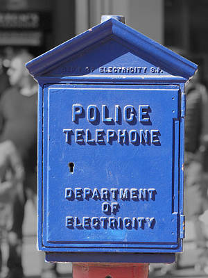 Photograph - Police Box by Richard Reeve