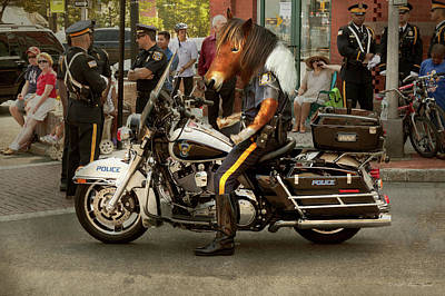Photograph - Police - Mounted Police by Mike Savad
