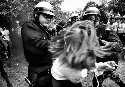 Photograph - Policemen Arrest Margaret Oleary For by New York Daily News Archive