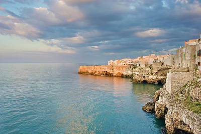 Mediterranean Sea Wall Art - Photograph - Polignano A Mare On The Adriatic Sea by David Madison