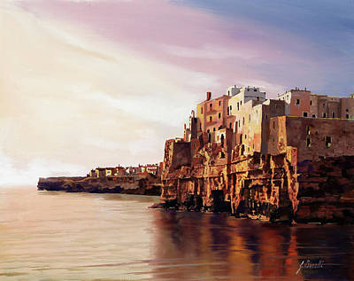 Painting Rights Managed Images - Polignano Royalty-Free Image by Guido Borelli