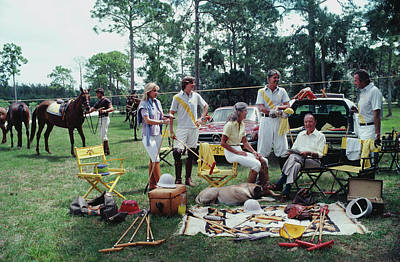 Dog Photograph - Polo Party by Slim Aarons
