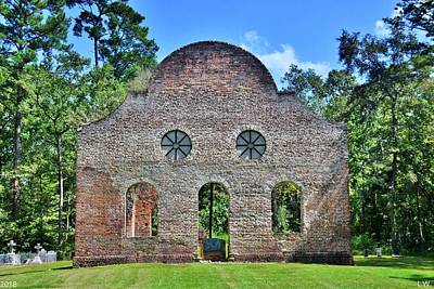 Photograph - Pon Pon Chapel Of Ease Jacksonboro South Carolina 2 by Lisa Wooten