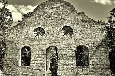 Photograph - Pon Pon Chapel Of Ease Jacksonboro South Carolina Black And White 3 by Lisa Wooten