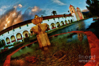 Photograph - Pond At Old Mission Santa Barbara by Blake Richards