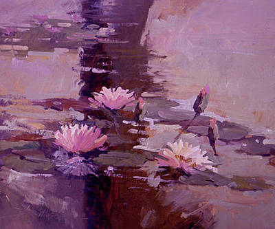 Painting - Pond Blossoms - Water Lilies by Betty Jean Billups
