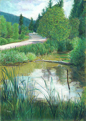 Painting - Pond By Highway by Nick Payne