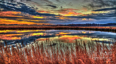 Photograph - Pond Reflections Sunset Landscape Art by Reid Callaway