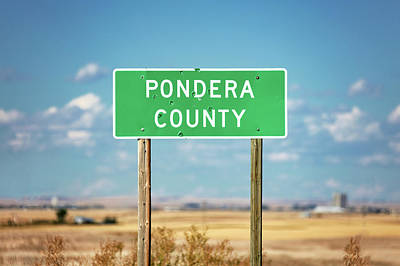 Photograph - Pondera County Line by Todd Klassy