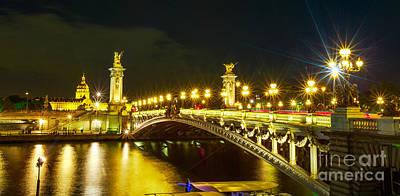 Photograph - Pont Alexandre IIi Parisian Panorama by Benny Marty