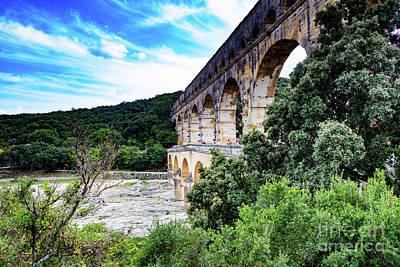 Photograph - Pont Du Gard Aqueduct II A Unesco World Heritage Site by Thomas Marchessault