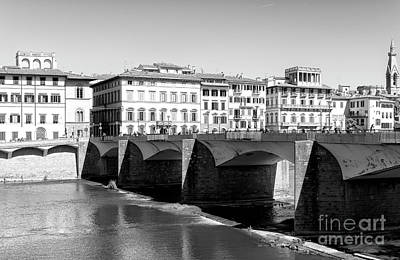 Photograph - Ponte Alle Grazie Florence by John Rizzuto