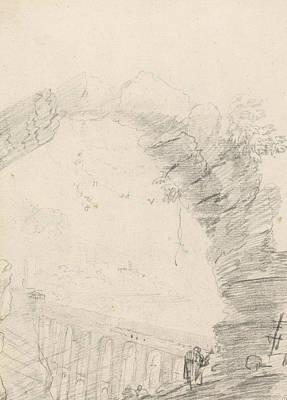 Drawing - Ponte Delle Torri, Seen Through An Arch by Richard Wilson