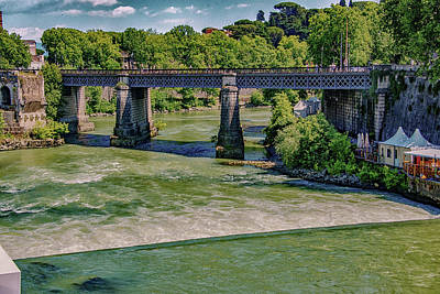 Tiber Island Wall Art - Photograph - Ponte Palatino by Joseph Yarbrough