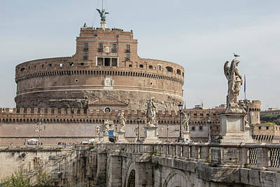 Photograph - Ponte Sant'angelo Bridge In Rome  by John McGraw