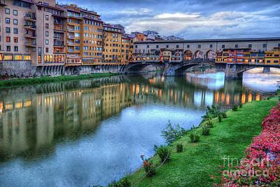 Photograph - Ponte Vecchio Florence Italy by Wayne Moran
