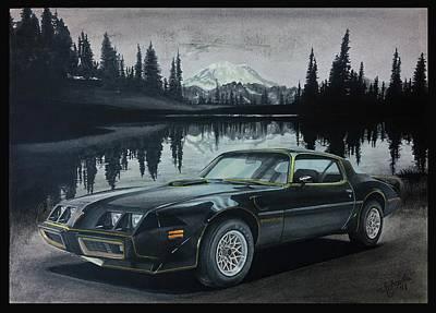 Pontiac Drawing - Pontiac Trans Am by Andra Mihai