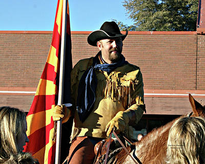 Photograph - Pony Express Flag Bearer by Matalyn Gardner