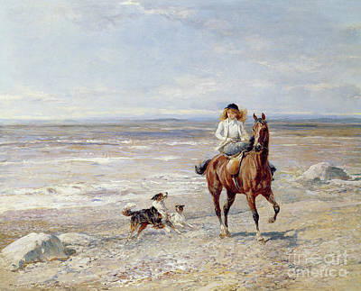 Painting - Pony Ride On The Beach by Heywood Hardy