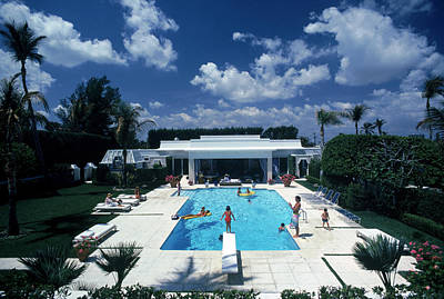 Architecture Photograph - Pool In Palm Beach by Slim Aarons