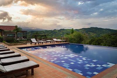 Photograph - Pool La Huerta Hotel Lago Calima Valle Del Cauca Colombia by Adam Rainoff