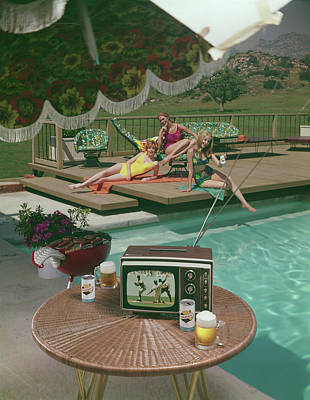 Photograph - Poolside Fun by Tom Kelley Archive