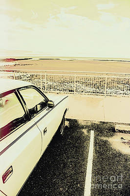 Beach Royalty-Free and Rights-Managed Images - Pop art beach carpark  by Jorgo Photography - Wall Art Gallery