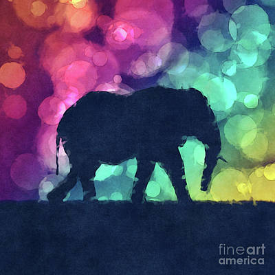 Digital Art - Pop Art Elephant by Phil Perkins