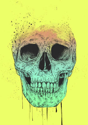 Ink Drawing Drawing - Pop Art Skull by Balazs Solti