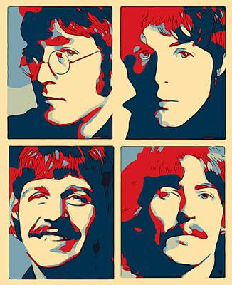 Digital Art - Pop Beatles by Gary Grayson