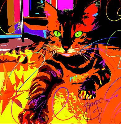 Painting - Pop Cat Bengal by DC Langer