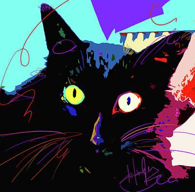 Painting - Pop Cat Binx by DC Langer