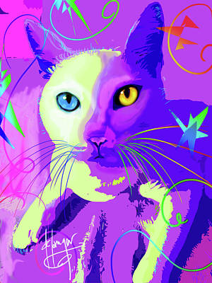 Painting - pOp Cat Cotton by DC Langer
