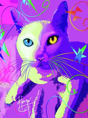 pOp Cat Cotton Art Print