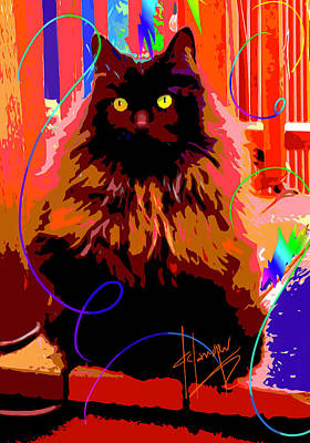 Painting - Pop Cat Delilah by DC Langer