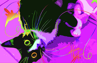 Painting - Pop Cat Dotty by DC Langer