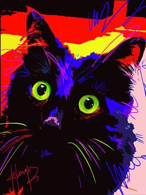 Digital Art - Pop Cat Lenny by DC Langer