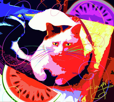 Painting - Pop Cat Toby by DC Langer