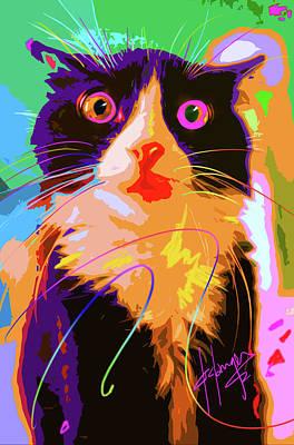 Painting - Pop Cat Tux by DC Langer