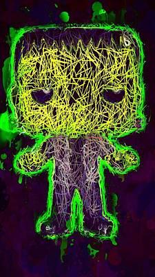 Mixed Media - Frankenstein Pop 2 by Al Matra